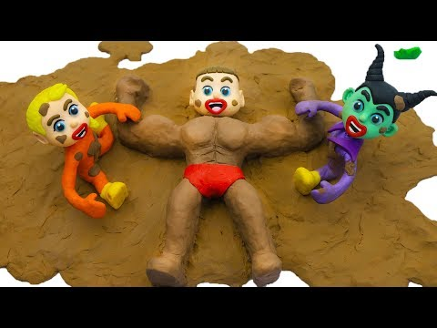 SUPERHERO BABIES PLAYING WITH MUD 💖 Play Doh Cartoons For Kids
