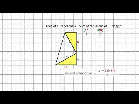 Pythagorean Theorem Proof #4 - President Garfield's Trapezoid