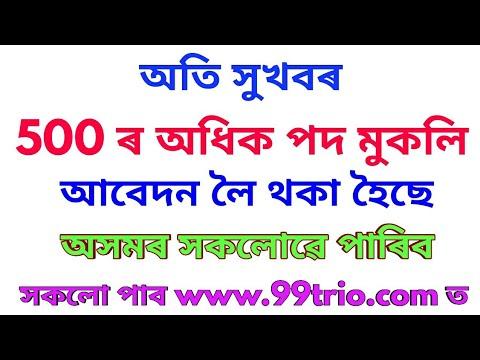 Assam govt job recruitment -20
