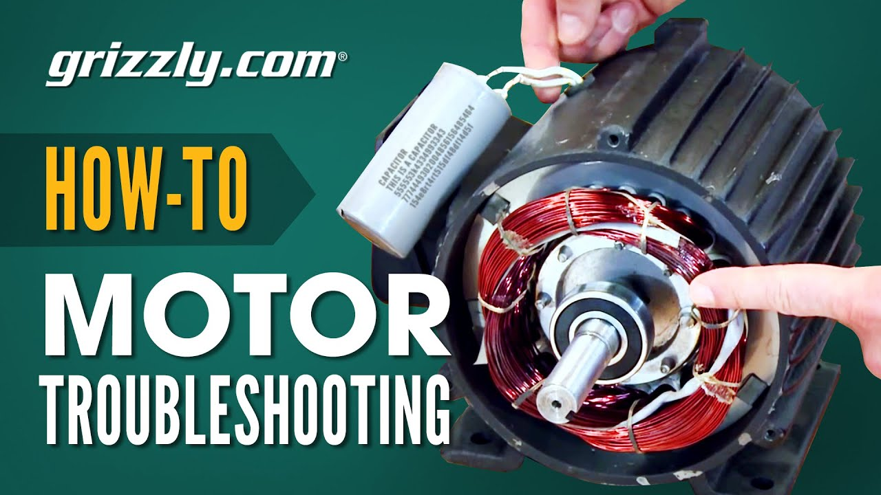 How To Troubleshoot A Motor And Adjust Centrifugal Switches Youtube Grizzly Table Saw Wiring Diagram