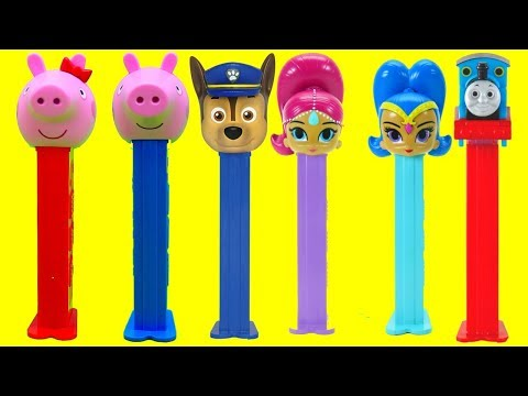 Peppa Pig PEZ Surprise Toys! Learn Colors Numbers for Preschool Kids Disney Pop Toys