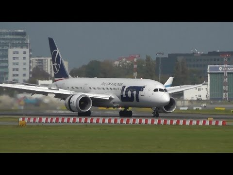 Spotting Runway 15 at Warsaw Airport. 40 Minutes of landings and takeoffs