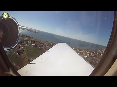 SOUNDS of POWER! Sovereign Jet Takeoff on a sunny Reykjavik Summer's Day!  [AirClips]