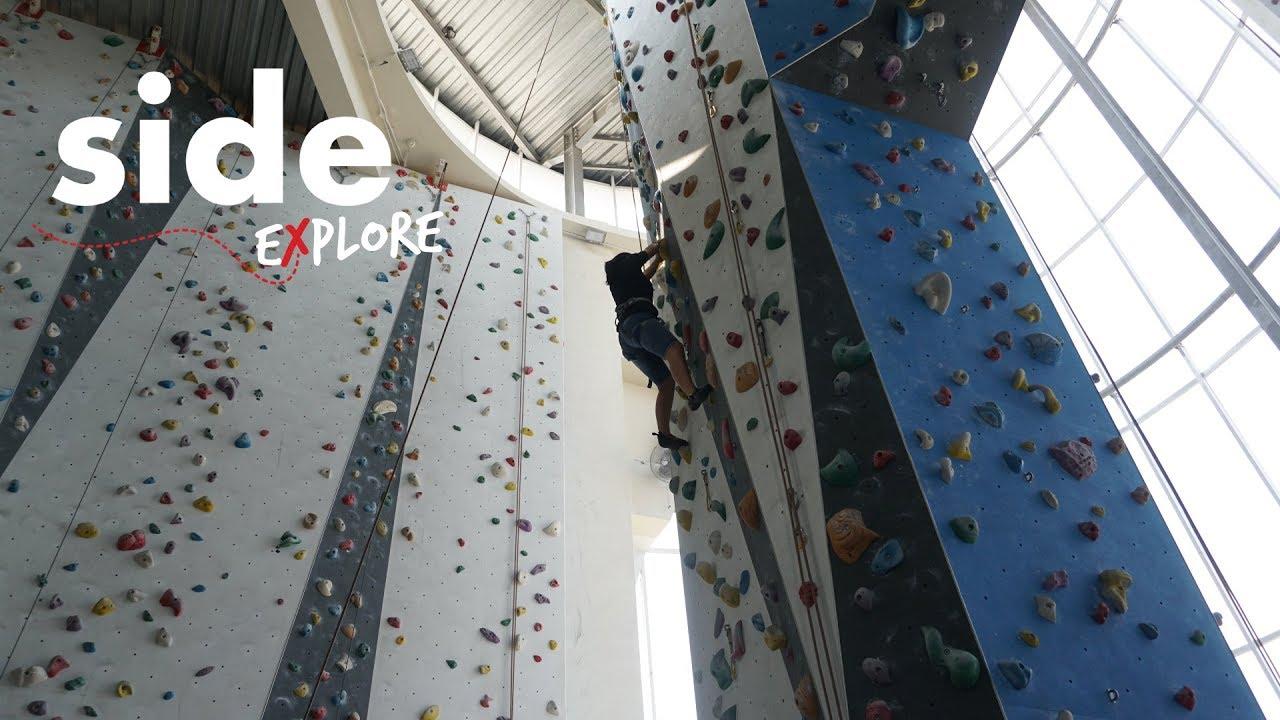 Side Explore Bremgra Indoor Climbing Gym Bsd City Youtube