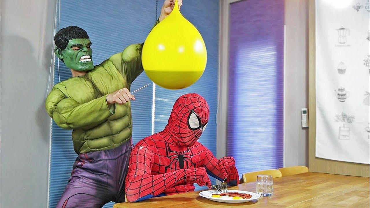 Spider Man Hulk BALLOON in COCA Cola PRANK Compilation!