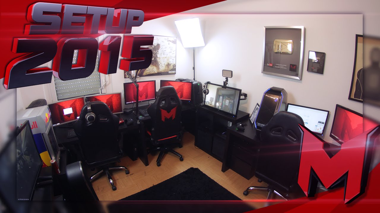 Mrlev12 et sa gaming room setup 2015 youtube - Chambre game but ...
