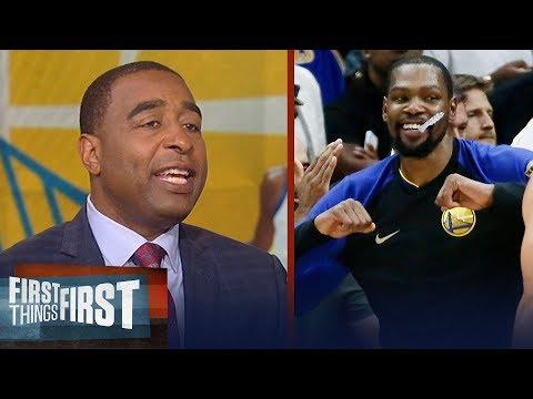 Cris Carter on Durant talking retirement, Anthony Davis to Warriors | NBA | FIRST THINGS FIRST