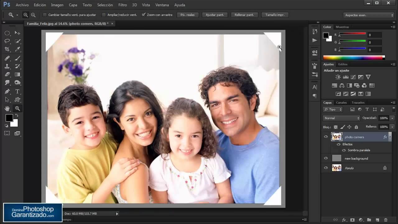 Crear un marco para tu fotografía con solo un clic -Tutorial de ...