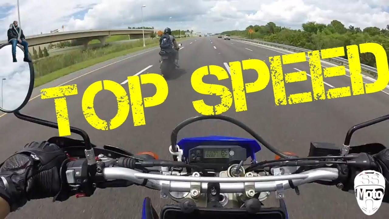 Yamaha wr250x top speed (stock) - YouTube