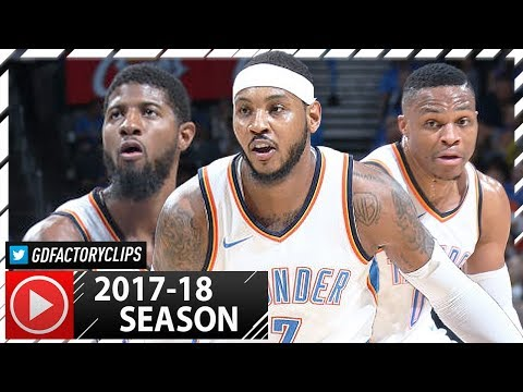 Russell Westbrook, Carmelo Anthony & Paul George BIG 3 Highlights vs Melbourne (2017.10.08) - SICK!