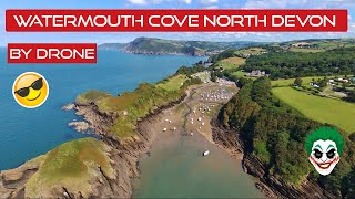Flying around Watermouth Cove North Devon