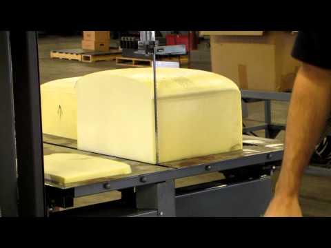 Bandsaw Memory Foam Test Cut 1 | Forrest Manufacturing