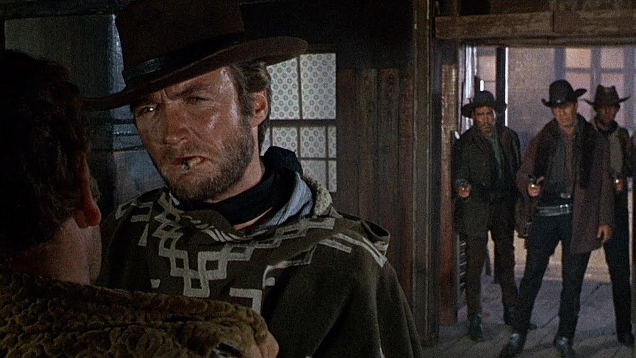for a few dollars more clint eastwoods entrance 1965
