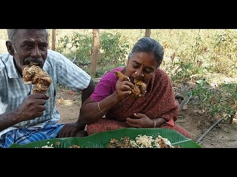 Cooking Full Giriraja Chicken Leg Pieces Gravy in My Village - Sema Taste
