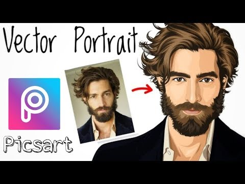 Picsart tutorial || Vector portrait || portrait image editing
