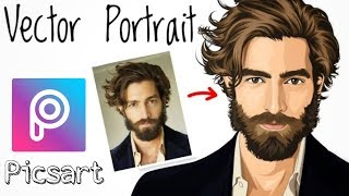 Picsart tutorial || Vector portrait || portrait image editing