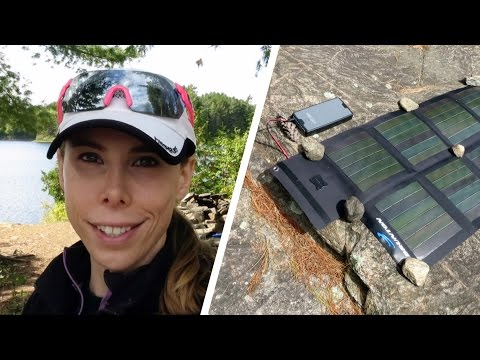ALGONQUIN PARK CAMPING TRIP - DAY 6 - SOLAR GEAR!