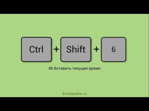 Горячие клавиши Excel. Как в ячейку вставить текущую дату или время