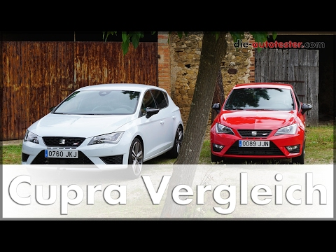 2017 Seat Leon Cupra vs. Seat Ibiza Cupra  Vergleich | Test | Review | Fahrbericht | Auto | Deutsch