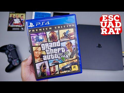 GTA 5 Premium Edition Indonesia, Unboxing & Gameplay PS4 Slim (Map Los Santos + GTA 5 Online) GTA V