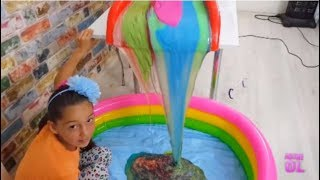 Giant Colored Waterfall Slime ( 60 Pounds )
