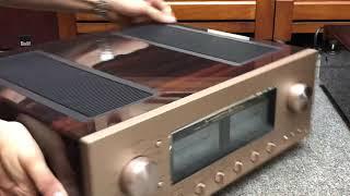 Amply Luxman L507Sii vỏ piano đẹp xuất sắc, phụ kiện zin theo máy phối ghép tốt nhiều loại loa