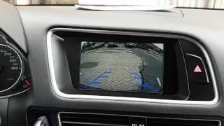 installation adding backup reverse camera audi q5 mmi