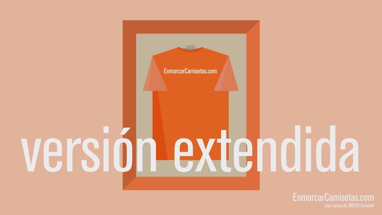 Marco para camiseta modelo VERSIÓN EXTENDIDA - YouTube