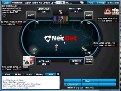 Beating Super Turbo Double Or Nothing At Netbet Poker Sit N Go At IPoker