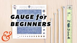 KNITTING GAUGE for Total Beginners (and Troubleshooting Gauge)