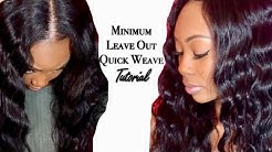 START TO FINISH MIDDLE PART QUICK WEAVE WITH LEAVE OUT+ HOW TO MOLD HAIR FOR QUICK WEAVE #1😍