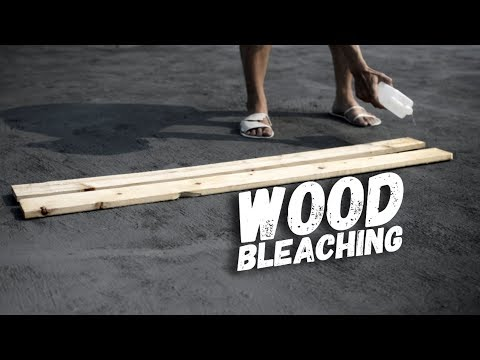 Bleaching Wood with Sodium Hydroxide and Hydrogen Peroxide (2 part wood bleach) 2017