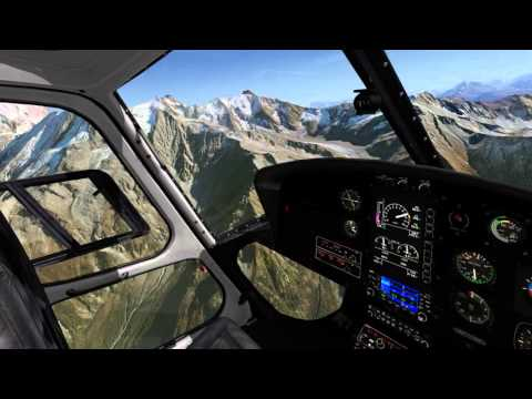 [X-Plane 10] Mont Blanc sightseeing tour with AS350 B3+