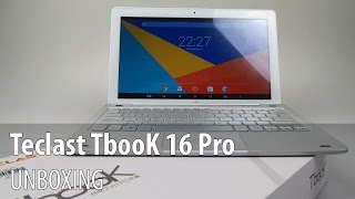 Teclast TBook 16 Pro Unboxing (2 in 1 Dual Boot Tablet, Keyboard Previewed) - Tablet-News.com