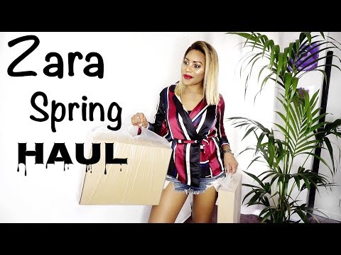 ZARA HAUL AND TRY ON || SPRING UNBOXING FEBRUARY 2018 ♡