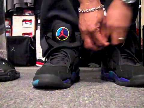 fb139b5fce5 02-12-2011 Shoe #303 of 689 J's. 2007 Jordan Aqua 8, S/O 5, & Custom T's -  YouTube