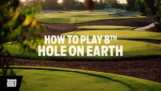 How to play the 8th hole on Earth at Jumeirah Golf...