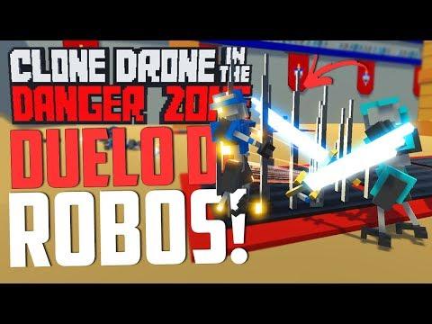 DUELO DE ROBOS! - Clone Drone in the Danger Zone Multiplayer