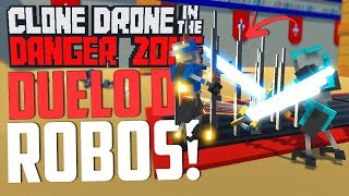 DUELO DE ROBOS! - Clone Drone in the Danger Zone Multiplayer