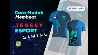 Cara Membuat Mock Up Kaos Jersey Esport Gaming di CorelDraw x7