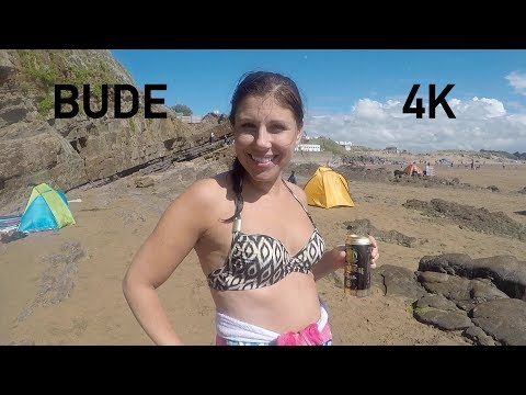 Bude 2017 (Cornwall) 4K - Body boarding in Bude Cornwall 2017 4K holiday