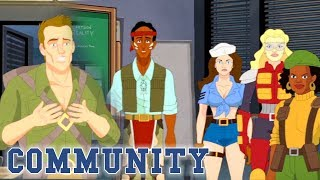 Jeff Discovers The Truth Behind His G.I. Reality | Community