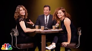 Jimmy, Tina Fey and Amy Poehler play a game where they take turns confessing to a random fact then interrogate each other to determine who was telling the ...