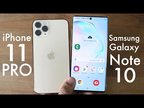 IPhone 11 Pro Vs Samsung Galaxy Note 10! (Comparison) (Review)