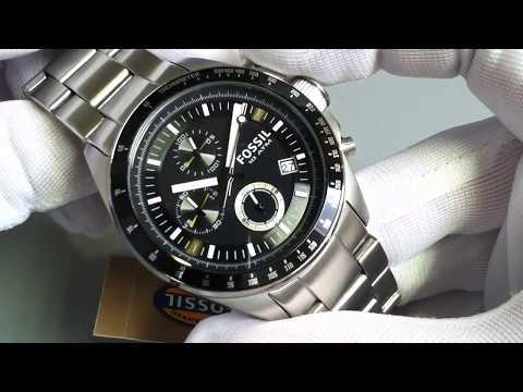 Men's Fossil Decker Chronograph Steel Watch CH2600