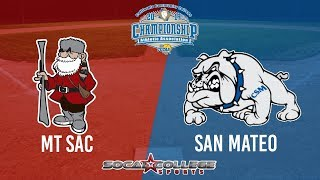 CCCAA Softball: San Mateo v Mt SAC - 5/19/19 - NOON