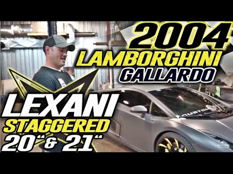Spotlight - 2004 Lamborghini Gallardo, Staggered Lexani Set up