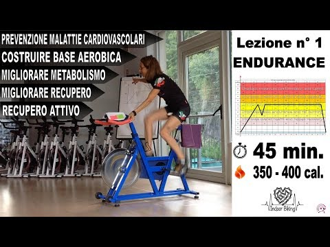 Spinning - Allenamento completo di indoor cycling Endurance 75% - Lez. n°1