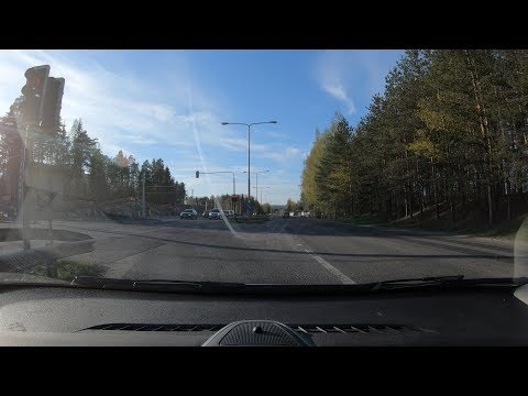 4K | Driving in Tampere, Finland | May 2019