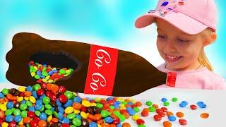 Liza and Nika Chocolate & Soda Challenge for Mom